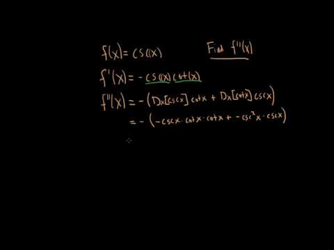 How to find the second derivative of f(x) = csc(x) - Larson Calculus - Section 3.3