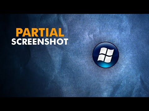 Snipping Tool - How to take partial screenshots on a PC