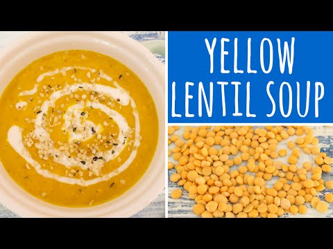 Yellow Lentil Soup with turmeric, coconut cream & hemp seeds (vegan | Low Carb) | Recipe Diary