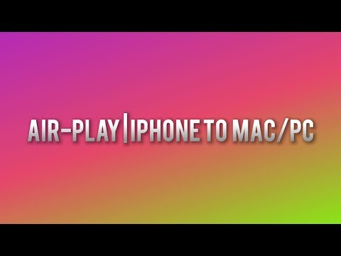 How to Air-Play from an iPhone to a Mac/PC!