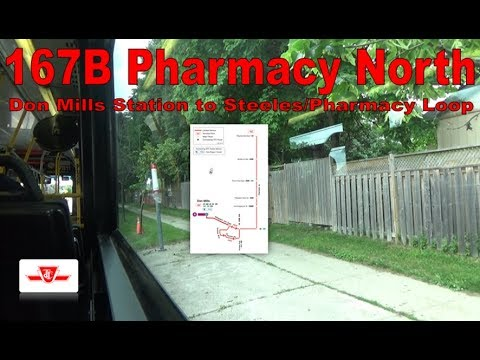 167B Pharmacy North - TTC 2005 Orion VII 7811 (Don Mills Station to Steeles/Pharmacy Loop)