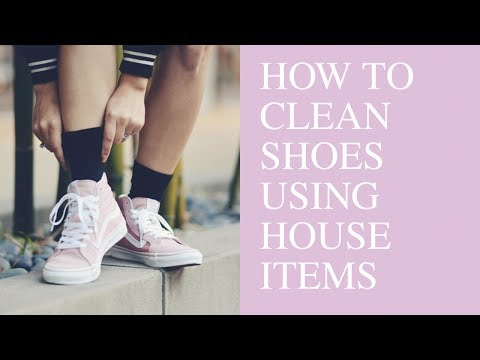 HOW TO CLEAN SHOES WITH HOUSEHOLD ITEMS | @katierose.franko