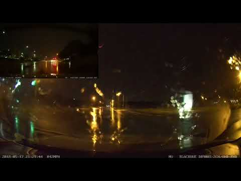 BlackVue DR900S-2CH Night Time Test During Thunder Storm
