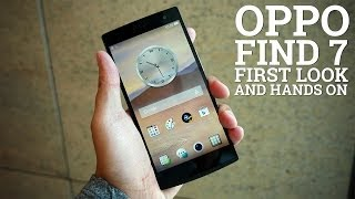 Oppo Find 7 First Look and Hands On!