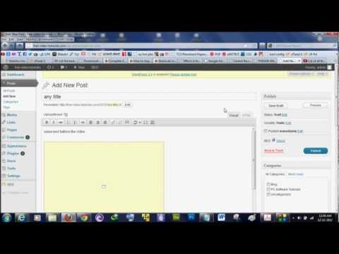 Tutorial: How to embed a Youtube Video to your Wordpress Website or Blog Post