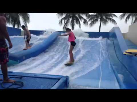 Tahlia Surfing in Singapore