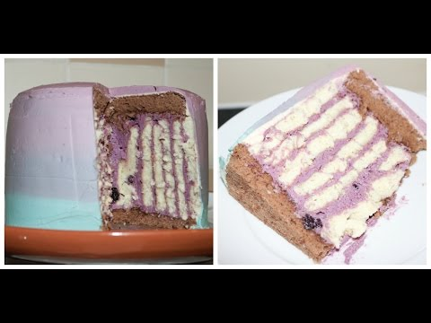 step by step Ombre vertical roll cake tutorial