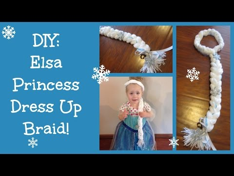 DIY: Elsa Frozen Princess Dress Up Braid!!