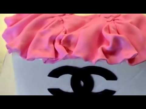 How to make cake How to make a Chanel Cake tutorial video