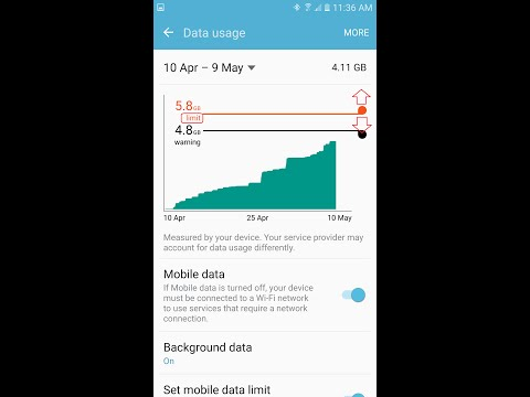 How To Check Mobile Data Usage And Set Up Warning and Limit On Samsung Galaxy S7/Edge/S6/Note5
