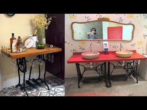 50+ Creative Recycled Old Sewing Machines Ideas | Reuse Old Drawers, Cabinet, Table Ideas
