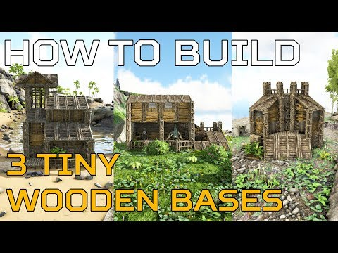🦄 Ark Starter HOW TO BUILD 3 tiny wooden PVE starter bases | Ark Survival [NO MODS]