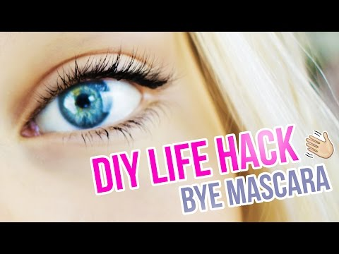 DIY EYELASH TUTORIAL I How to: Dark Lashes Without Mascara I Semi Permanent Life Hack+ Waterproof