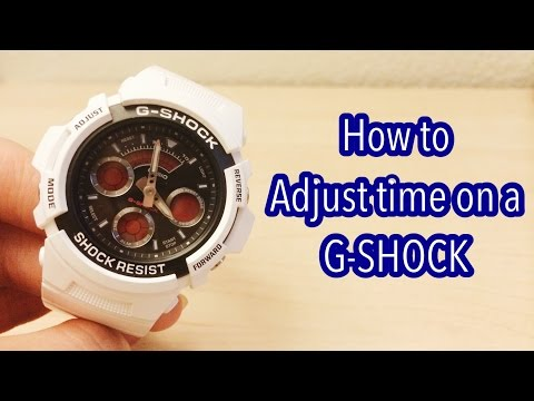 (TUTORIAL) How to Adjust Time on a G-Shock EASY