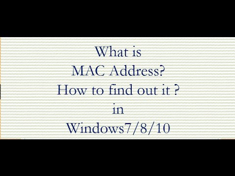 How to find out MAC address of computer in windows7