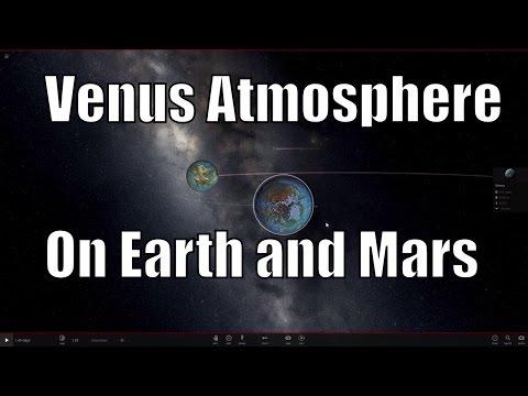 Venus Atmosphere on Earth and Mars -  Universe Sandbox²