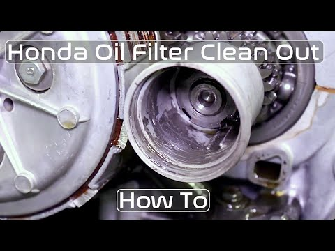Honda CB350 CB360 CB450 Oil Filter Clean How To