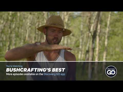 Building a raft on Discovery Channels Bushcraft Build-off