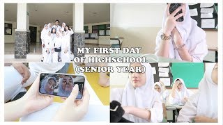 MY FIRST DAY OF HIGHSCHOOL(SENIOR YEAR) | INDONESIA