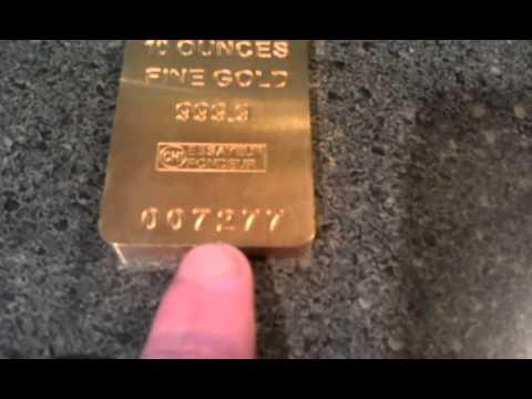 Fake Credit Suisse 10oz gold bar