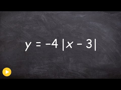 Learn how to graph an absolute value equation by identifying the vertex first