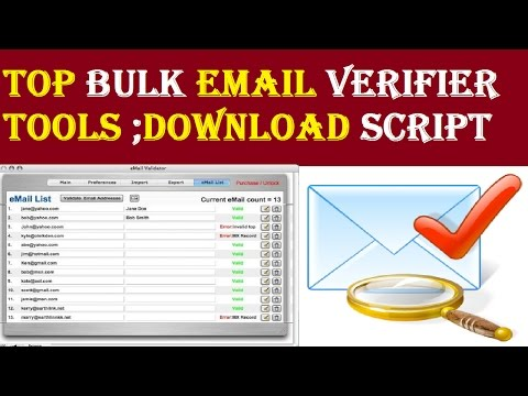 Top 12 Bulk Email Verifier Tools-- Verification and Validation ;Bulk Email Verifier Php Script