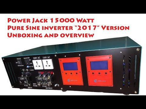 Power Jack 15000W pure sine inverter Unboxing -