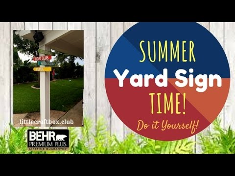 How to make Yard signs