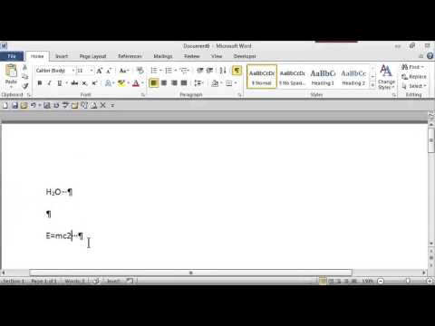 How to Put a Little Number Next to a Word : MS Word Skills