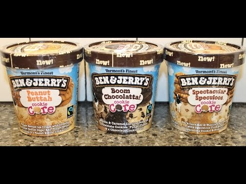 Ben & Jerry's Cookie Core: Boom Chocolatta, Peanut Buttah & Spectacular Speculoos Review