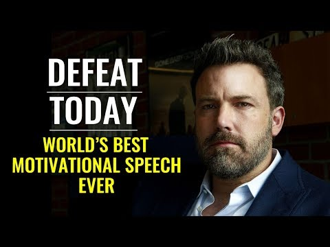 Defeat Today and Forget Tomorrow: One of the Best Motivational Speeches Ever