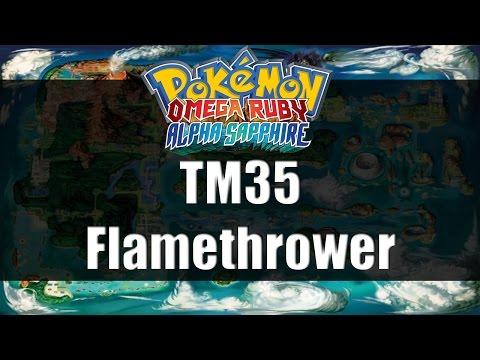 Pokemon Omega Ruby & Alpha Sapphire | Where to get TM35 Flamethrower