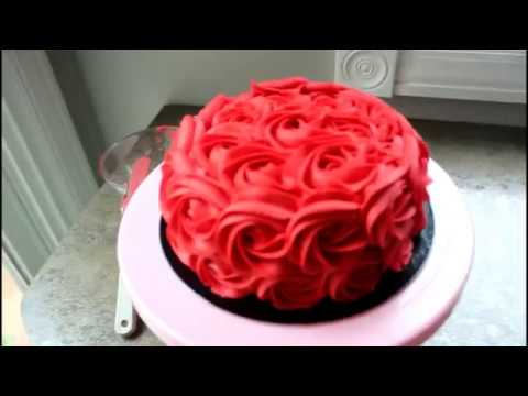How to Make a Vegan, Lactose Free, Chocolate Rose Cake