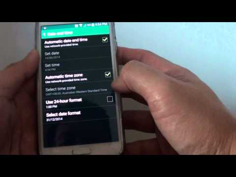Samsung Galaxy S5: How to Change Time Format to AM/PM or 24 Hours