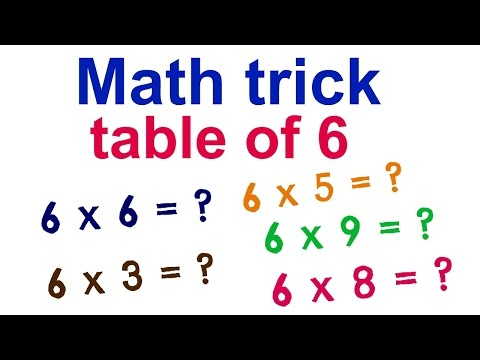 Math trick to learn table of 6!
