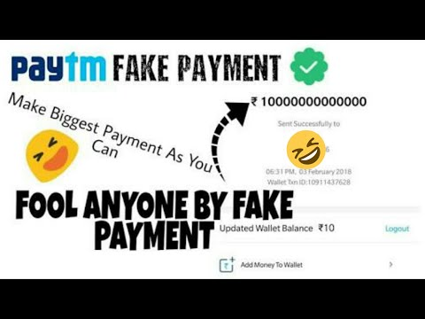 how to pay Fake money through spoof paytm (beware)