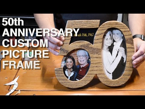 50th Anniversary Custom Picture Frame