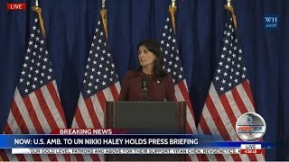 WATCH: URGENT NEWS CONFERENCE with Ambassador Nikki Haley on NORTH KOREA/IRAN 9/21/17