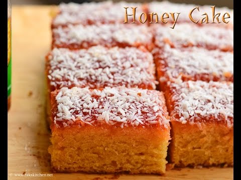 Honey cake recipe, Indian Bakery style eggless version