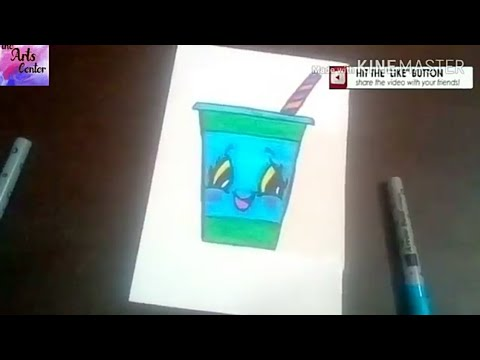 How to Draw Cartoon Cute Drink!! Fun drawing for Kids ||by The Arts Center