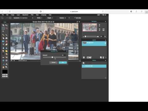 How to: Blur a photo in Pixlr
