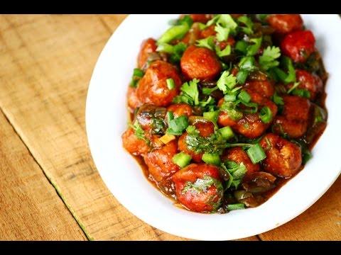Soya Chunks Manchurian recipe- Meal maker manchurian gravy recipe