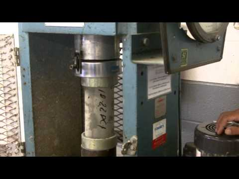 How to test PSI  strength of concrete core samples.
