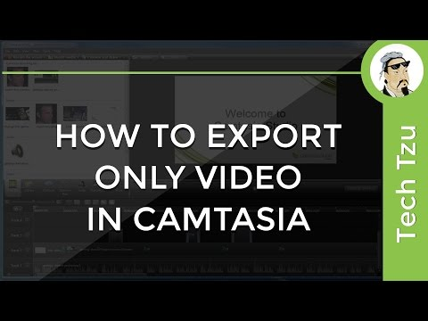 How To Export Only Video in Camtasia