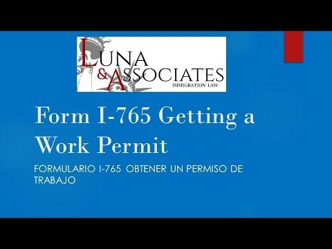 Form I-765, Getting a Work Permit (subtítulos en Español)