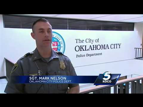 Oklahoma City police officer brings man cake for his birthday