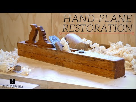 Restoring an Old Giant Wooden HAND-PLANE!