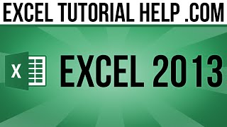 Excel 2013 Tutorial How To Hide And Unhide Columns