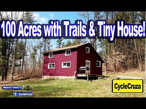 Tour of 100 ACRES of Land with Tiny House and ATV Trails! Should I Buy?