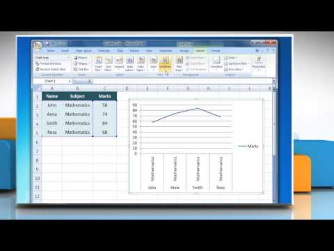 How to show & hide Gridlines in Line Graphs in Excel 2007